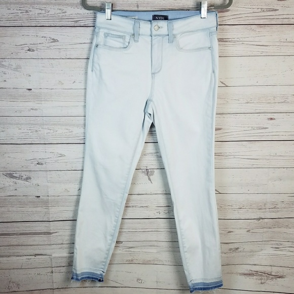 NYDJ Denim - NYDJ Light Wash Ami Skinny Ankle Raw Hem Jeans